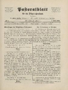 Pastoralblatt für die Diözese Ermland, 44.Jahrgang, 1. Juli 1912. Nr 7