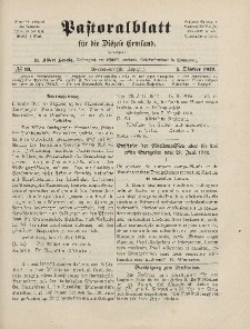 Pastoralblatt für die Diözese Ermland, 44.Jahrgang, 1. Oktober 1912. Nr 10