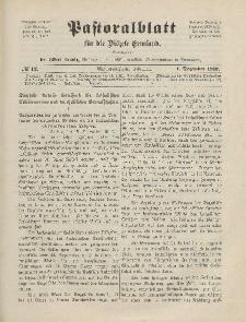 Pastoralblatt für die Diözese Ermland, 44.Jahrgang, 1. Dezember 1912. Nr 12