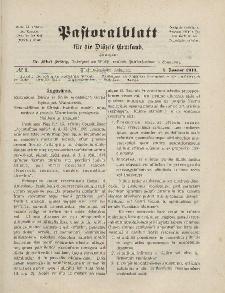 Pastoralblatt für die Diözese Ermland, 45.Jahrgang, 1. Januar 1913. Nr 1