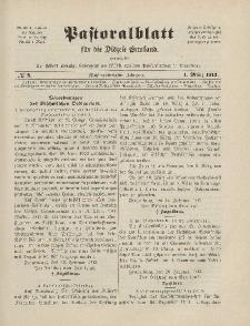 Pastoralblatt für die Diözese Ermland, 45.Jahrgang, 1. März 1913. Nr 3