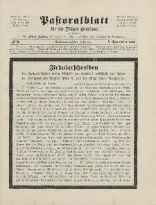Pastoralblatt für die Diözese Ermland, 46.Jahrgang, 1. September 1914. Nr 9