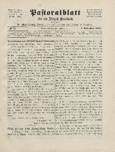 Pastoralblatt für die Diözese Ermland, 46.Jahrgang, 1. November 1914. Nr 11