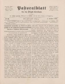 Pastoralblatt für die Diözese Ermland, 47.Jahrgang, 1. Oktober 1915. Nr 10