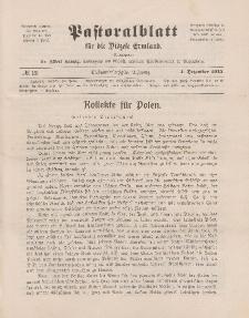 Pastoralblatt für die Diözese Ermland, 47.Jahrgang, 1. Dezember 1915. Nr 12