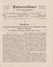 Pastoralblatt für die Diözese Ermland, 49.Jahrgang, 1. Februar 1917. Nr 2