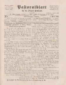 Pastoralblatt für die Diözese Ermland, 49.Jahrgang, 1. April 1917. Nr 4