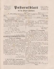 Pastoralblatt für die Diözese Ermland, 49.Jahrgang, 1. Mai 1917. Nr 5