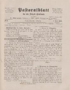 Pastoralblatt für die Diözese Ermland, 49.Jahrgang, 1. Juni 1917. Nr 6