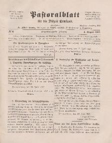 Pastoralblatt für die Diözese Ermland, 49.Jahrgang, 1. August 1917. Nr 8