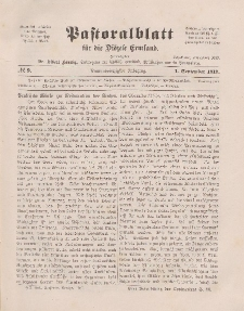 Pastoralblatt für die Diözese Ermland, 49.Jahrgang, 1. September 1917. Nr 9