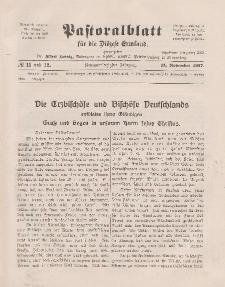 Pastoralblatt für die Diözese Ermland, 49.Jahrgang, 15. Oktober 1917. Nr 11 und 12
