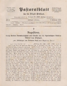 Pastoralblatt für die Diözese Ermland, 50.Jahrgang, 1. Februar 1918. Nr 2