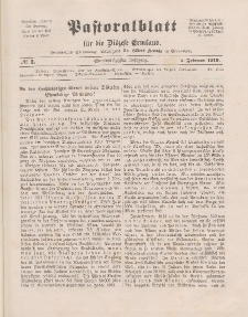 Pastoralblatt für die Diözese Ermland, 51.Jahrgang, 1. Februar 1919. Nr 2