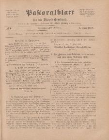 Pastoralblatt für die Diözese Ermland, 51.Jahrgang, 1. Juni 1919. Nr 6