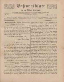 Pastoralblatt für die Diözese Ermland, 51.Jahrgang, 1. November 1919. Nr 11