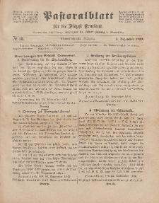 Pastoralblatt für die Diözese Ermland, 51.Jahrgang, 1. Dezember 1919. Nr 12
