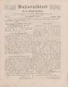 Pastoralblatt für die Diözese Ermland, 52.Jahrgang, 1. Januar 1920. Nr 1