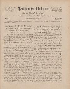 Pastoralblatt für die Diözese Ermland, 52.Jahrgang, 1. Juli 1920. Nr 7