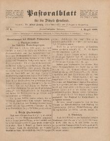 Pastoralblatt für die Diözese Ermland, 52.Jahrgang, 1. August 1920. Nr 8