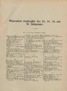 Pastoralblatt für die Diözese Ermland (Sachregister des 53 und 56 Jahrganges)