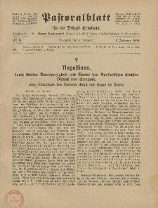 Pastoralblatt für die Diözese Ermland, 53.Jahrgang, 1. Februar 1921, Nr 2.