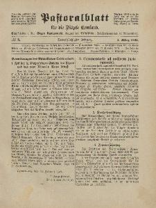 Pastoralblatt für die Diözese Ermland, 53.Jahrgang, 1. März 1921, Nr 3.