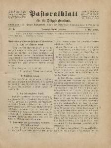 Pastoralblatt für die Diözese Ermland, 53.Jahrgang, 1. Mai 1921, Nr 5.