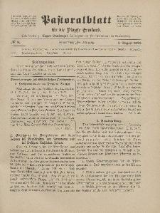 Pastoralblatt für die Diözese Ermland, 53.Jahrgang, 1. August 1921, Nr 8.