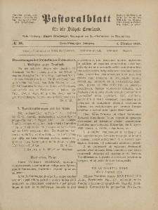 Pastoralblatt für die Diözese Ermland, 53.Jahrgang, 1. Oktober 1921, Nr 10.