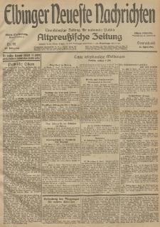 Elbinger Neueste Nachrichten, Nr. 99 Sonnabend 11 April 1914 66. Jahrgang