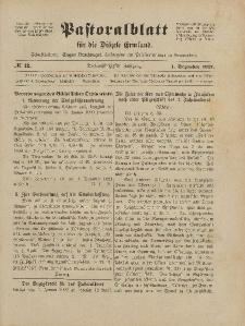 Pastoralblatt für die Diözese Ermland, 53.Jahrgang, 1. Dezember 1921, Nr 12.
