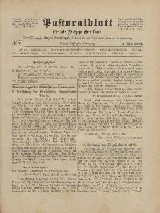 Pastoralblatt für die Diözese Ermland, 54.Jahrgang, 1. Juli 1922, Nr 7.