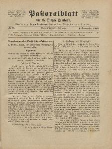 Pastoralblatt für die Diözese Ermland, 54.Jahrgang, 1. September 1922, Nr 9.