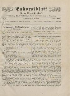Pastoralblatt für die Diözese Ermland, 55.Jahrgang, 1. März 1923, Nr 3.