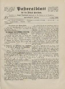 Pastoralblatt für die Diözese Ermland, 55.Jahrgang, 1. Juni 1923, Nr 6.