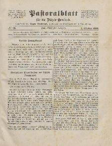 Pastoralblatt für die Diözese Ermland, 55.Jahrgang, 1. Oktober 1923, Nr 10.