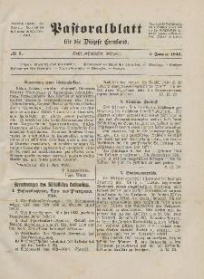 Pastoralblatt für die Diözese Ermland, 56.Jahrgang, 1. Januar 1924, Nr 1.