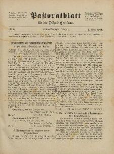 Pastoralblatt für die Diözese Ermland, 56.Jahrgang, 1. Mai 1924, Nr 5.