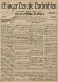 Elbinger Neueste Nachrichten, Nr. 102 Mittwoch 15 April 1914 66. Jahrgang