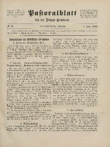 Pastoralblatt für die Diözese Ermland, 56.Jahrgang, 1. Juni 1924, Nr 6.