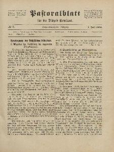 Pastoralblatt für die Diözese Ermland, 56.Jahrgang, 1. Juli 1924, Nr 7.
