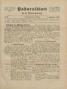 Pastoralblatt für die Diözese Ermland, 56.Jahrgang, 1. September 1924, Nr 9.