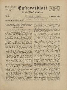 Pastoralblatt für die Diözese Ermland, 56.Jahrgang, 1. Oktober 1924, Nr 10.