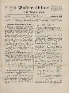 Pastoralblatt für die Diözese Ermland, 56.Jahrgang, 1. November 1924, Nr 11.