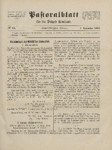 Pastoralblatt für die Diözese Ermland, 56.Jahrgang, 1. Dezember 1924, Nr 12.