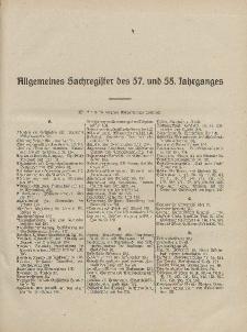 Pastoralblatt für die Diözese Ermland (Sachregister des 57 und 58 Jahrganges)