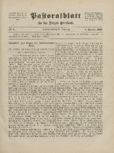 Pastoralblatt für die Diözese Ermland, 57.Jahrgang, 1. Januar 1925, Nr 1.