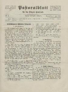 Pastoralblatt für die Diözese Ermland, 57.Jahrgang, 1. Juli 1925, Nr 7.