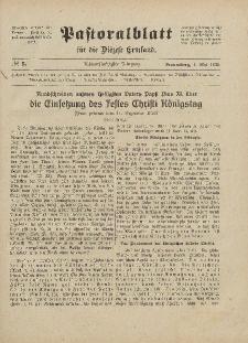 Pastoralblatt für die Diözese Ermland, 58.Jahrgang, 1. Mai 1926, Nr 5.